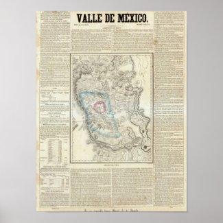 Valle de Mexico, Mexico Posters