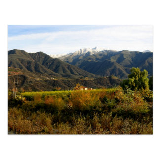 Valle de Ojai con nieve Postales