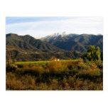 Valle de Ojai con nieve Tarjeta Postal