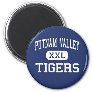 Valle de Putnam - tigres - alto - valle de Putnam Imán Redondo 5 Cm