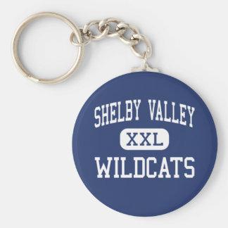 Valle de Shelby - gatos monteses - alto - Pikevill Llavero Redondo Tipo Pin
