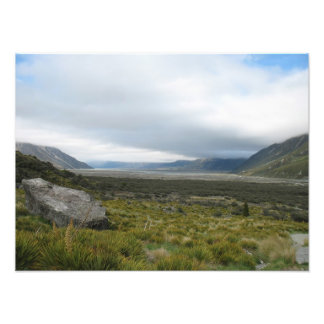 Valle de Tasman, montañas meridionales, Nueva Zela Foto