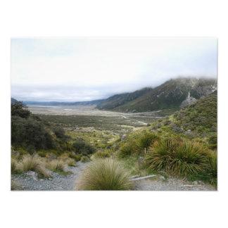 Valle de Tasman, montañas meridionales, Nueva Zela Arte Fotográfico