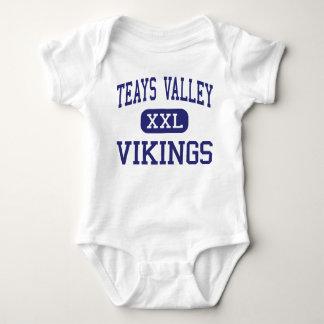 Valle de Teays - Vikingos - alto - Ashville Ohio Playera