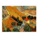 Valle de Van Gogh con el labrador (F727) Tarjeta Postal
