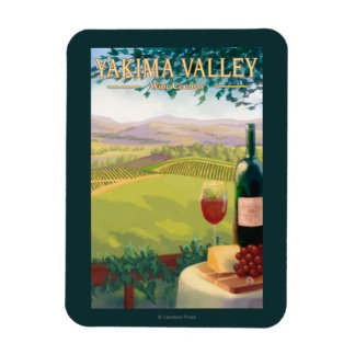 Valle de Yakima, país de WashingtonWine Imán Rectangular