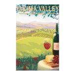 Valle de Yakima, país de WashingtonWine Lona Estirada Galerías