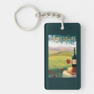 Valle de Yakima, país de WashingtonWine Llavero Rectangular Acrílico A Doble Cara