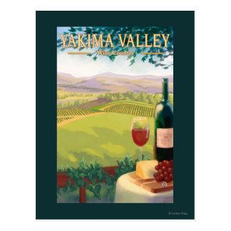 Valle de Yakima, país de WashingtonWine Tarjetas Postales
