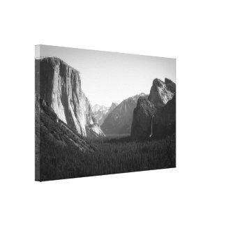 Valle de Yosemite de la opinión del túnel Impresión En Tela