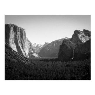 Valle de Yosemite de la opinión del túnel Tarjetas Postales