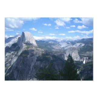 """Valle de Yosemite del punto del glaciar Invitación 5"""" X 7"""""""