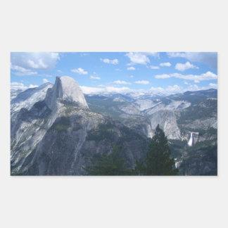 Valle de Yosemite del punto del glaciar Rectangular Pegatinas