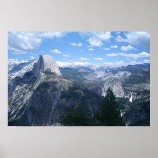 Valle de Yosemite del punto del glaciar Póster