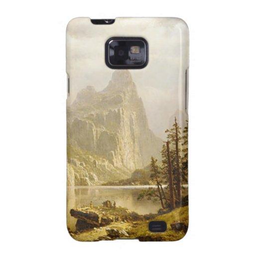 Valle de Yosemite del río de Bierstadt Albert Samsung Galaxy S2 Carcasas