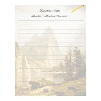 Valle de Yosemite del río de Bierstadt Albert Membrete A Diseño