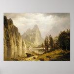 Valle de Yosemite del río de Bierstadt Albert Posters