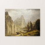 Valle de Yosemite del río de Bierstadt Albert Puzzles