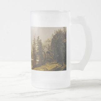 Valle de Yosemite del río de Bierstadt Albert Taza Cristal Mate