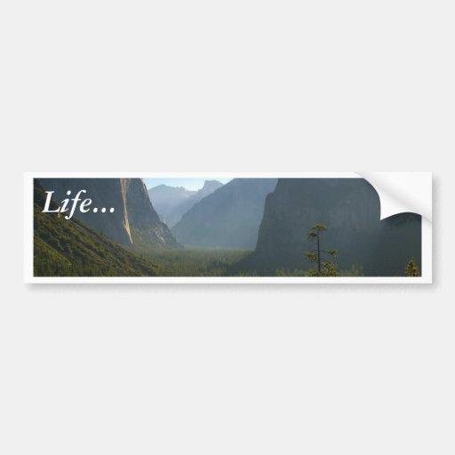 Valle de Yosemite Etiqueta De Parachoque