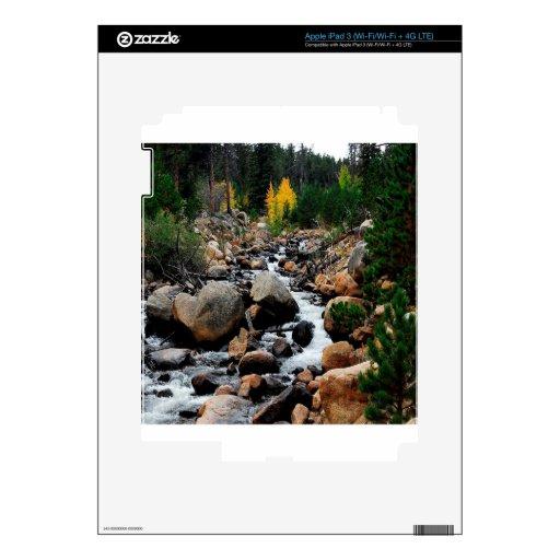 Valle del agua de cantos rodados iPad 3 pegatinas skins