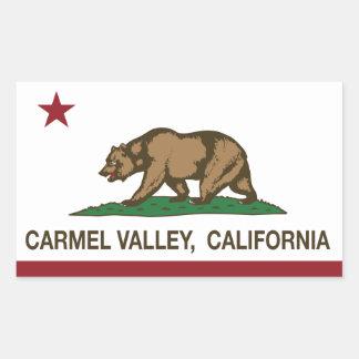 Valle del carmel de la bandera de la república de pegatina rectangular