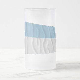 Valle del Cauca Waving Flag 16 Oz Frosted Glass Beer Mug