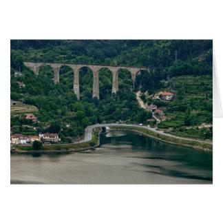 Valle del Duero - la ciudad Oliveira hace el Duero Tarjeta De Felicitación