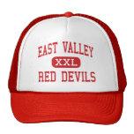 Valle del este - diablos rojos - alto - Yakima Gorros Bordados