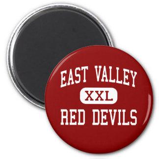 Valle del este - diablos rojos - alto - Yakima Imán Redondo 5 Cm