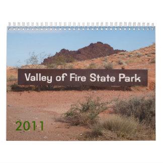 Valle del fuego 2011 calendario