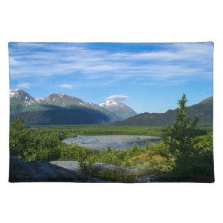 Valle del glaciar de la salida de Alaska Mantel Individual