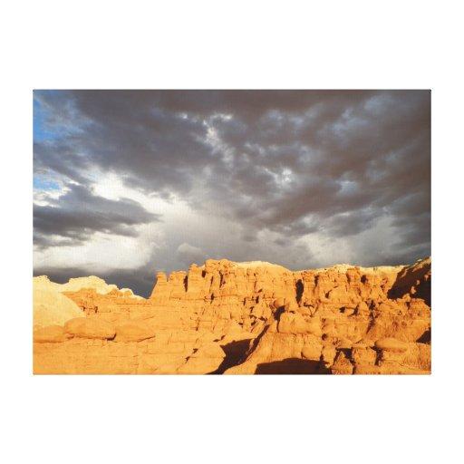 Valle del Goblin en puesta del sol Lona Envuelta Para Galerias