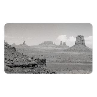 Valle del monumento 2 (blancos y negros) tarjetas de visita