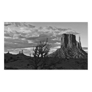 Valle del monumento 3 (blancos y negros) tarjetas de visita