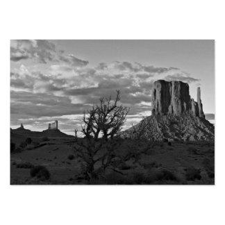 Valle del monumento 3 (blancos y negros) tarjetas de visita grandes
