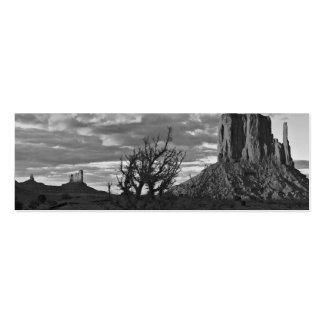 Valle del monumento 3 (blancos y negros) tarjetas de visita mini