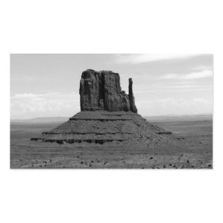 Valle del monumento (blanco y negro) tarjetas de visita