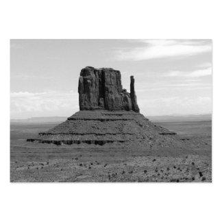 Valle del monumento (blanco y negro) tarjetas de visita grandes