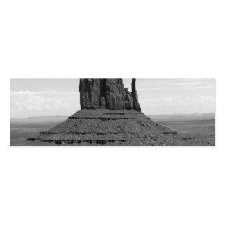 Valle del monumento (blanco y negro) tarjetas de visita mini