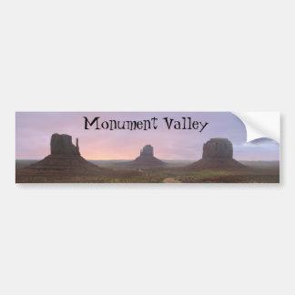 Valle del monumento etiqueta de parachoque