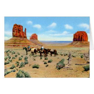 Valle del monumento de Arizona Tarjetón