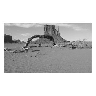 Valle del monumento de B&W en Arizona/Utah 2 Tarjetas De Visita