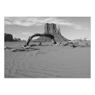 Valle del monumento de B&W en Arizona/Utah 2 Tarjetas De Visita Grandes