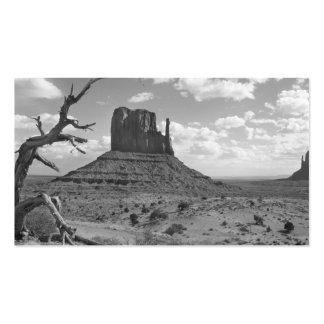 Valle del monumento de B&W en Arizona/Utah 4 Tarjetas De Visita