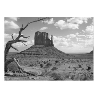 Valle del monumento de B&W en Arizona/Utah 4 Tarjetas De Visita Grandes