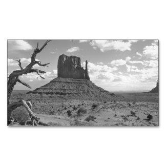 Valle del monumento de B&W en Arizona/Utah 4 Tarjetas De Visita Magnéticas (paquete De 25)