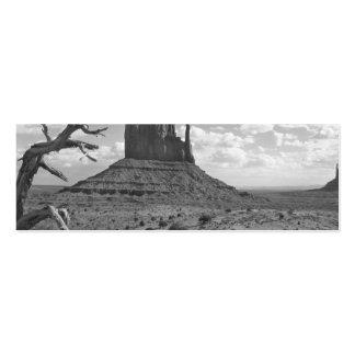Valle del monumento de B&W en Arizona/Utah 4 Tarjetas De Visita Mini