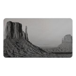 Valle del monumento de B&W en Arizona/Utah 5 Tarjetas De Visita