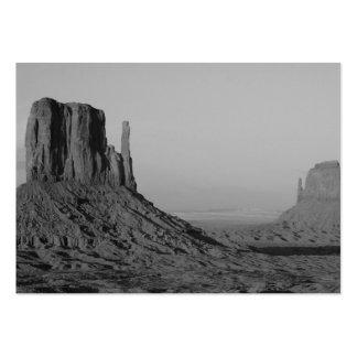 Valle del monumento de B&W en Arizona/Utah 5 Tarjetas De Visita Grandes